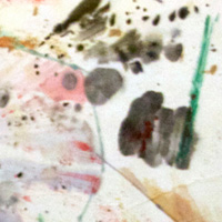 Small Explosion - 1967 - Watercolor and Ink on Rice Paper.