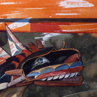Kwakiutl Sculpin - 1990 - Watercolor.